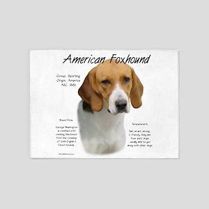 American Foxhound 5'x7'Area Rug