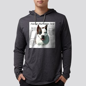 AmStaff Terrier Mens Hooded Shirt