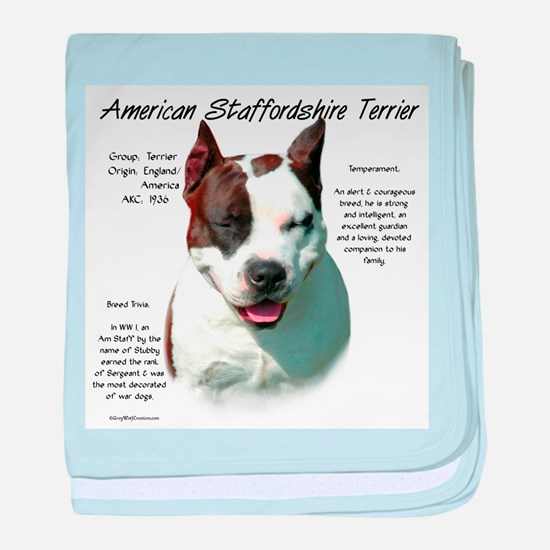 AmStaff Terrier baby blanket