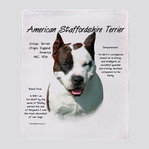AmStaff Terrier Throw Blanket