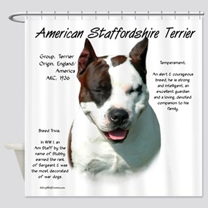 AmStaff Terrier Shower Curtain