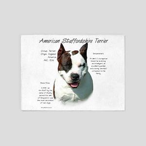 AmStaff Terrier 5'x7'Area Rug