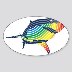 great white rainbow shark Sticker