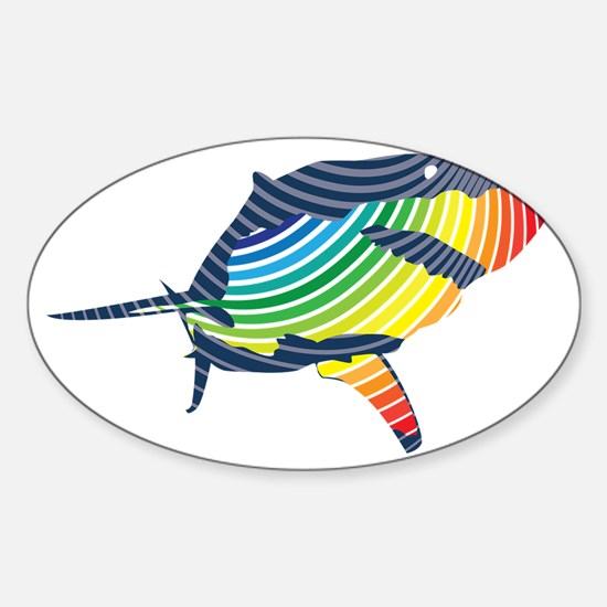 great white rainbow shark Decal
