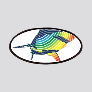 great white rainbow shark Patch