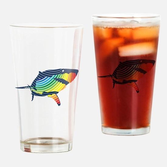 great white rainbow shark Drinking Glass