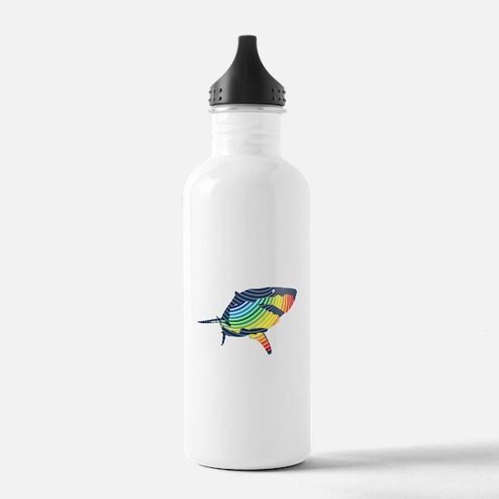 great white rainbow shark Water Bottle