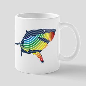 great white rainbow shark Mugs
