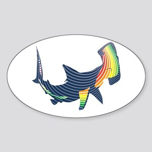 hammerhead color swoosh Sticker