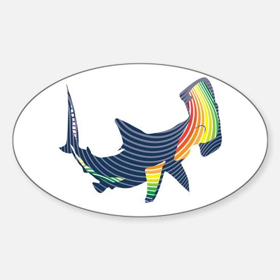 hammerhead color swoosh Decal