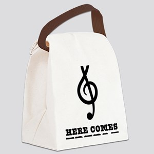 Here-Comes-Treble-01-a Canvas Lunch Bag