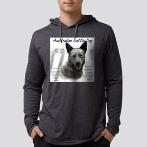 Cattle Dog (blue) Mens Hooded Shirt