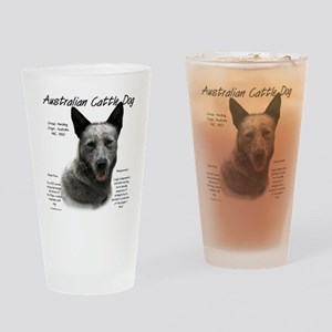 Cattle Dog (blue) Drinking Glass