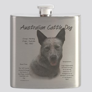 Cattle Dog (blue) Flask