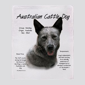 Cattle Dog (blue) Throw Blanket