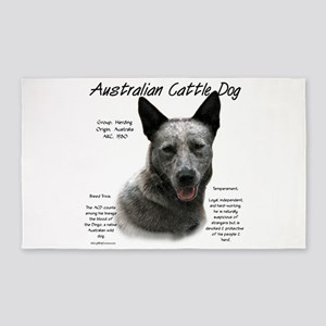 Cattle Dog (blue) Area Rug