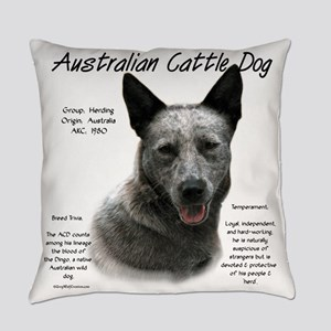 Cattle Dog (blue) Everyday Pillow