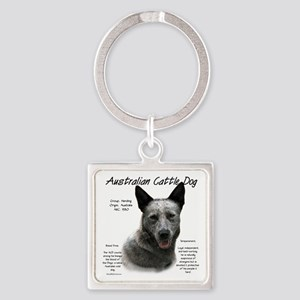 Cattle Dog (blue) Square Keychain