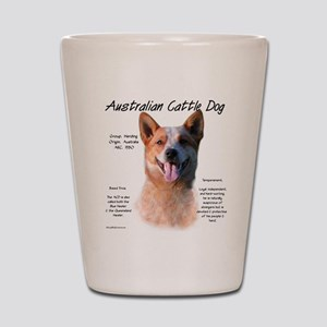 Cattle Dog (red) Shot Glass