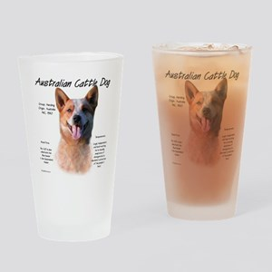 Cattle Dog (red) Drinking Glass