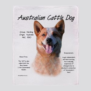 Cattle Dog (red) Throw Blanket