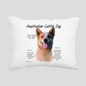 Cattle Dog (red) Rectangular Canvas Pillow