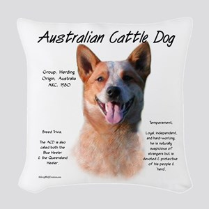 Cattle Dog (red) Woven Throw Pillow