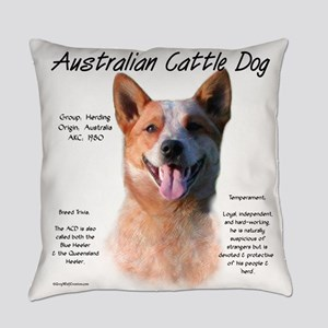 Cattle Dog (red) Everyday Pillow