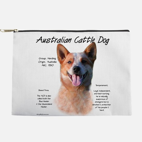 Cattle Dog (red) Makeup Pouch