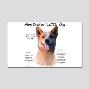 Cattle Dog (red) Car Magnet 20 x 12