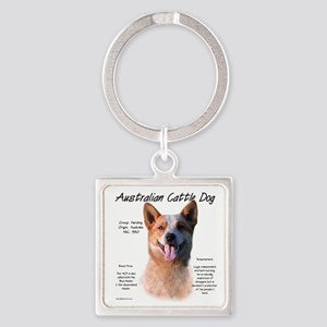 Cattle Dog (red) Square Keychain