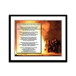 Firemans Prayer 13 x 16 inch Framed Panel Print