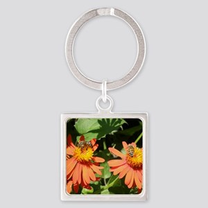 Busy Bees Square Keychain