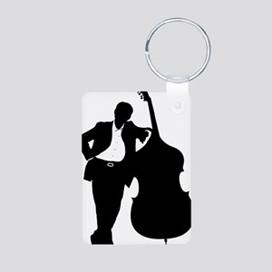 Man-With-Double-Bass-01-a Aluminum Photo Keychain