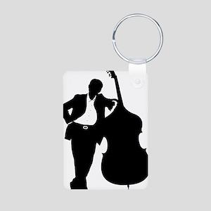 Man-With-Double-Bass-01-a Aluminum Photo Keychain