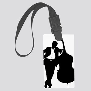 Man-With-Double-Bass-01-a Large Luggage Tag