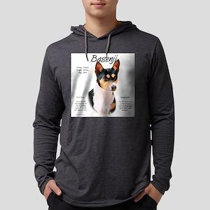 Basenji (tricolor) Mens Hooded Shirt