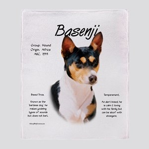 Basenji (tricolor) Throw Blanket