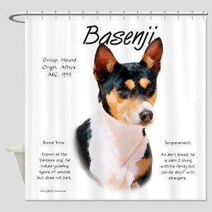 Basenji (tricolor) Shower Curtain