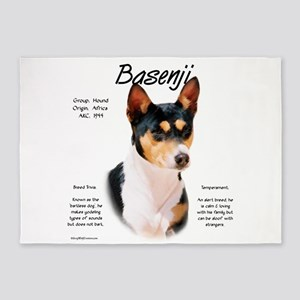 Basenji (tricolor) 5'x7'Area Rug