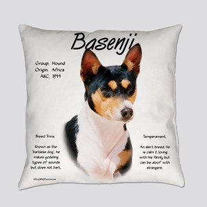 Basenji (tricolor) Everyday Pillow