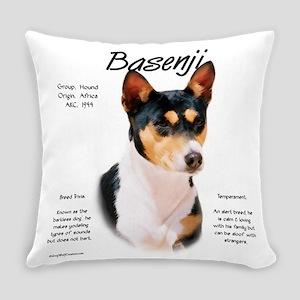 Basenji (tricolor) Everyday Pillow