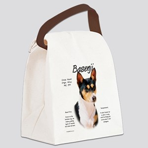 Basenji (tricolor) Canvas Lunch Bag