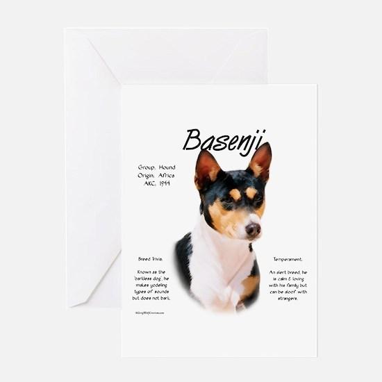 Basenji (tricolor) Greeting Card