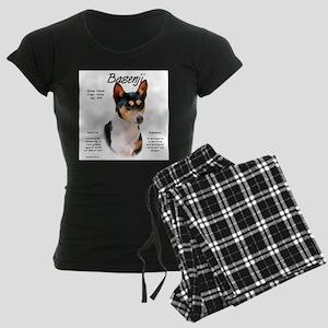 Basenji (tricolor) Women's Dark Pajamas