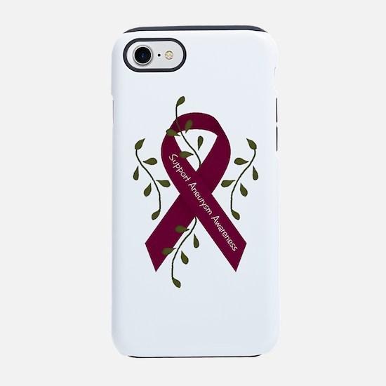 Aneurysm Awareness Ribbon (men) iPhone 7 Tough Cas