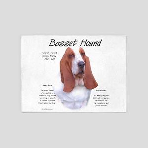 Basset Hound 5'x7'Area Rug