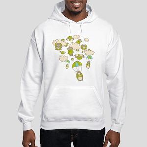 Skydiving Hamsters Hooded Sweatshirt