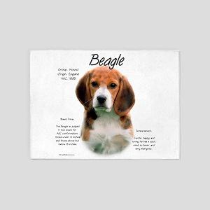 Beagle 5'x7'Area Rug