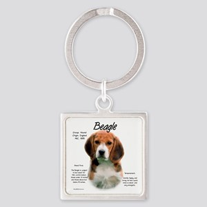Beagle Square Keychain